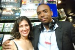 NYC Girl Gamers Meetup Editor-in-Chief Mildred with Pro Gamer David