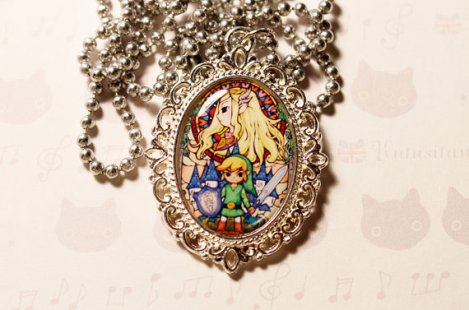 zelda and linck necklace